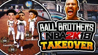 BBB BALL BROTHERS TAKEOVER NBA 2K18 MYPARK! LONZO, LAMELO, LIANGELO HIGHLIGHTS! NEW CUSTOM JUMPSHOT