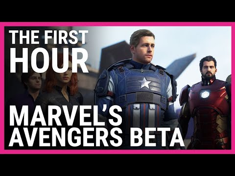 The first hour the Marvel's Avengers Beta