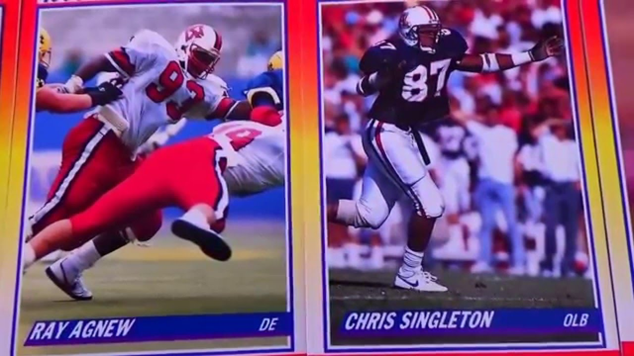 Nfl Score 1990 Rookie Football Cards Part 1