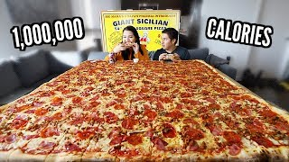 Biggest Pizza in the World Challenge w/ Bae  *just couple tingz*