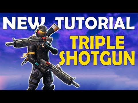 TRIPLE SHOTGUN TUTORIAL | DOUBLE HEAVY SHOTGUN | DOUBLE PUMP IS BACK - (Fortnite Battle Royale)