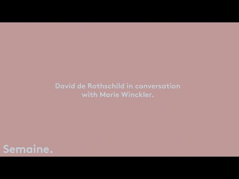 David de Rothschild in conversation with Marie Winckler