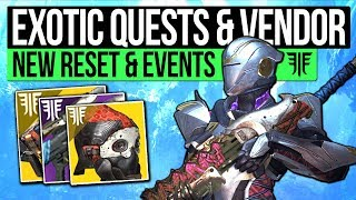 Destiny 2 News | NEW RESET DAYS & EXOTIC QUESTS! Fallen Vendor, HVT Bounties, Defence Event & Ammo!