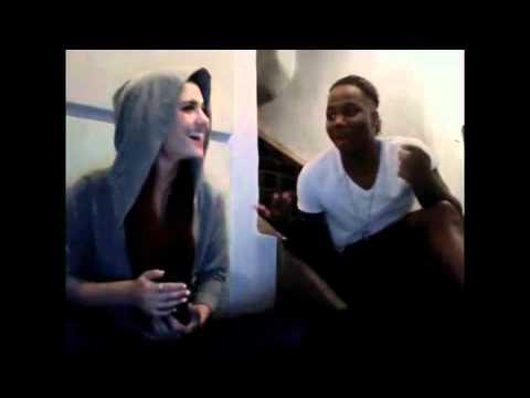 Ariana Grande & Leon Thomas III singing