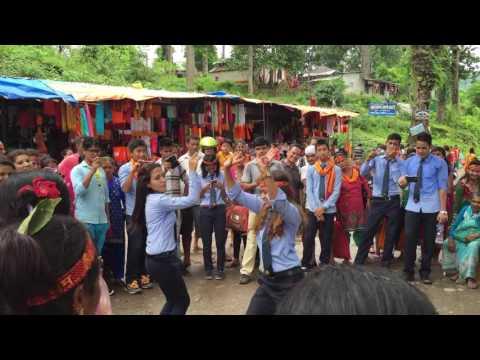 Nepali dance by college students in Devghat Chitwan