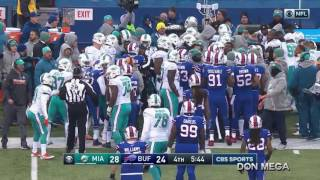 Bills Kicker Dan Carpenter Taunts Miami Player Starts Brawl