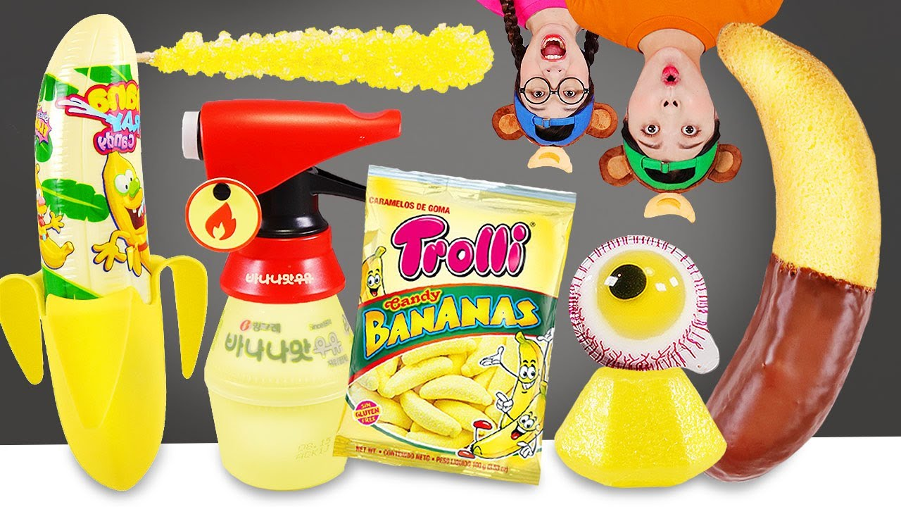 Yellow Banana Food Mukbang 바나나 음식 먹방 DONA 도나
