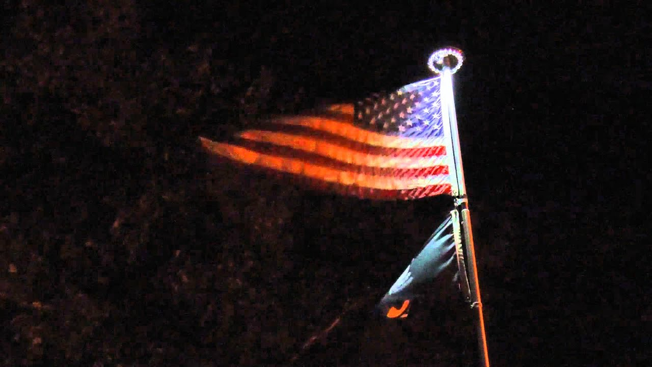 Flagpole Solar Lighting | Lighting Ideas
