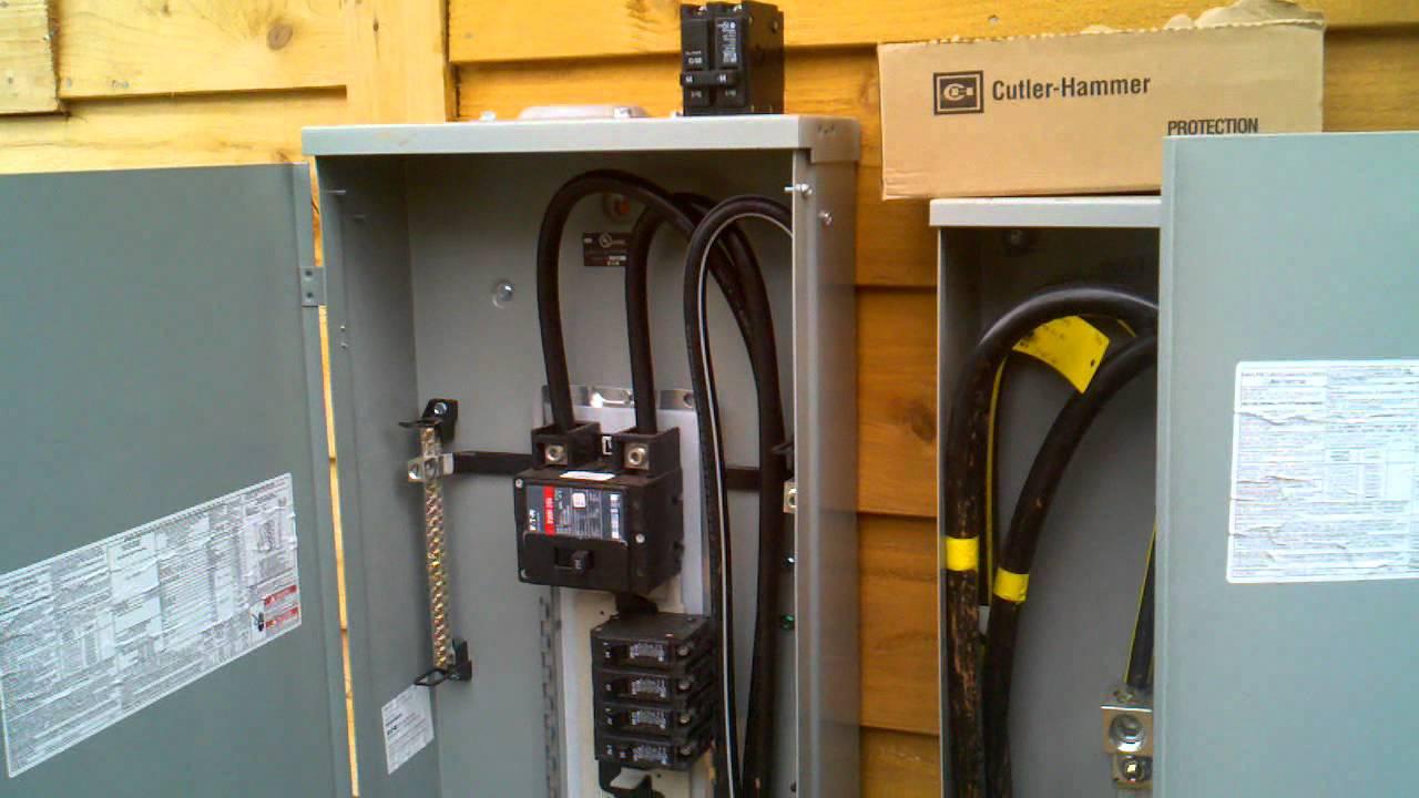 sub breaker panel wiring diagram sky eye 400 amp service - youtube