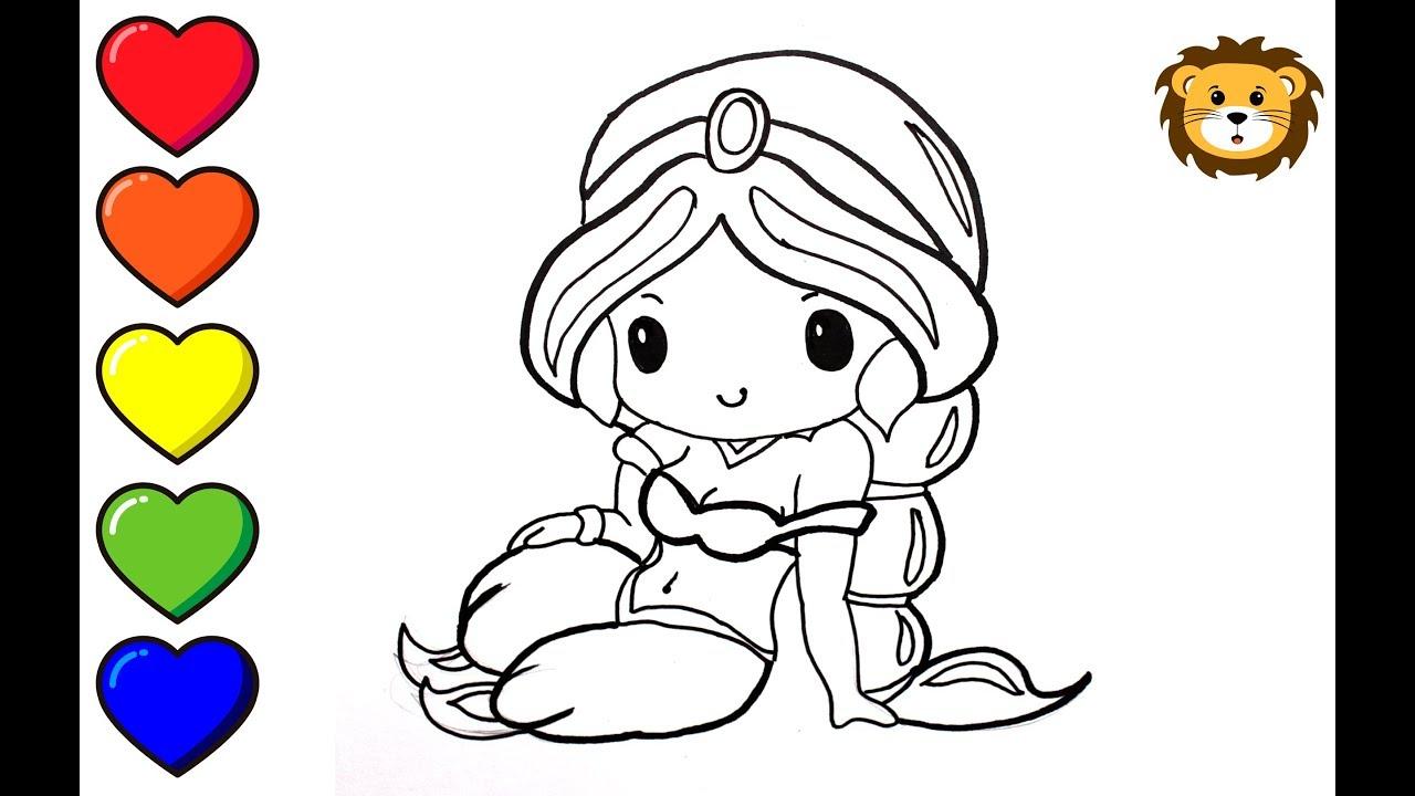 How To Draw Princess Jasmin Kawaii Como Dibujar La Princesa