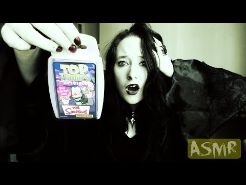 *ASMR* A Look Through Top Trumps The Simpsons: Horror Edition! | Amy McLean