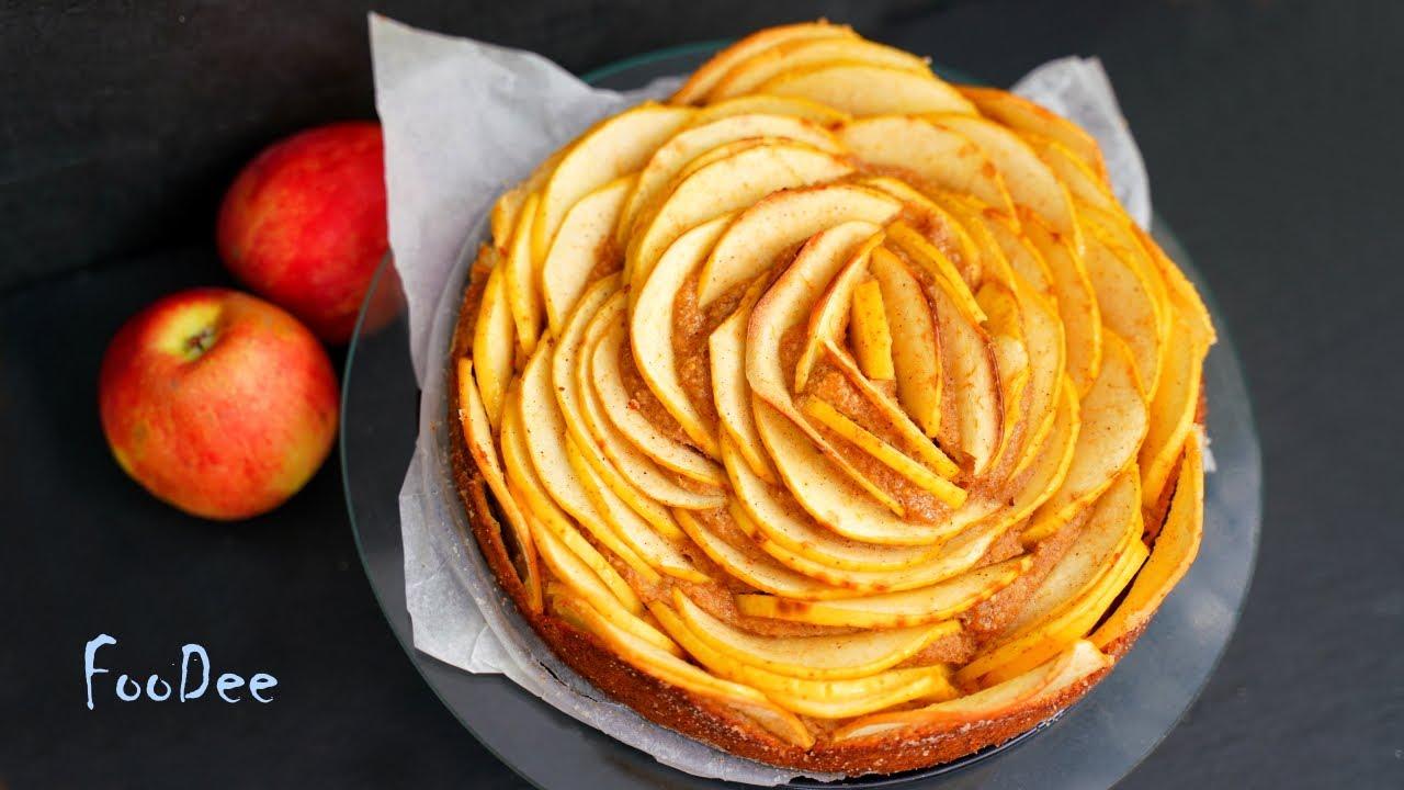 Хоть на НОЧЬ ешь! Яблочный  ПИРОГ БЕЗ сахара, муки и масла