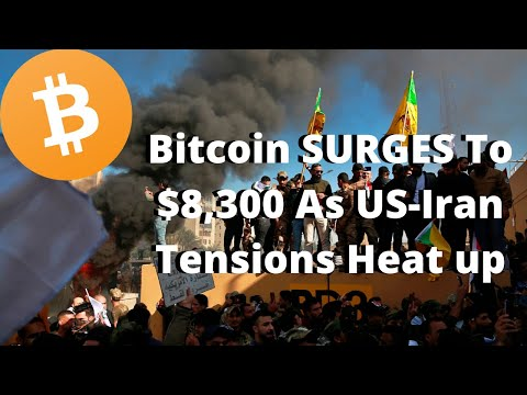 US Attack On Iran Causes Bitcoin To SURGE To $8,300?