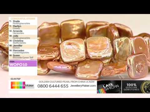 Golden Rice Beads Pearl and Black Spinel for jewellery making: JewelleryMaker LIVE 28/07/2014