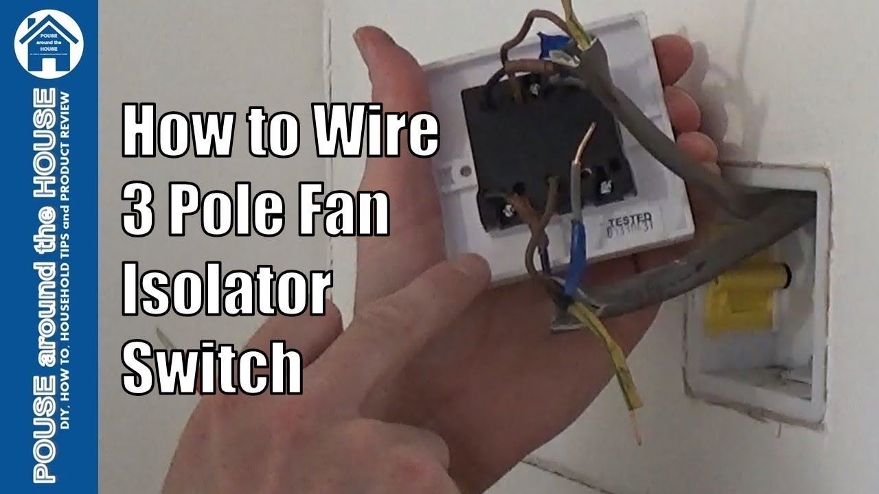 How to wire a 3 pole fan isolator switch Extractor fan switch install wiring explained  YouTube