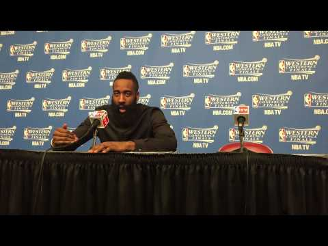James Harden Post Game 4 NBA Western...