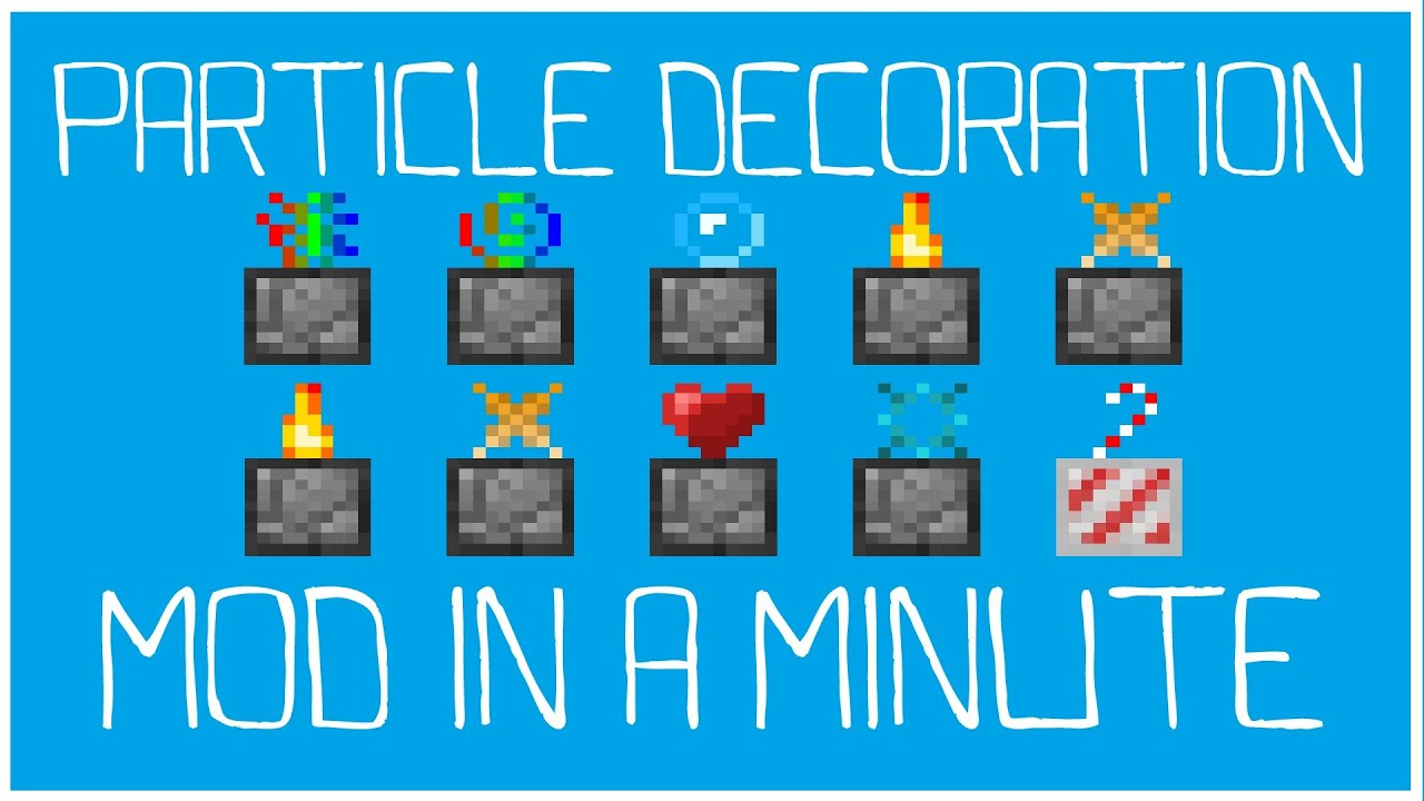minecraft how to make particles