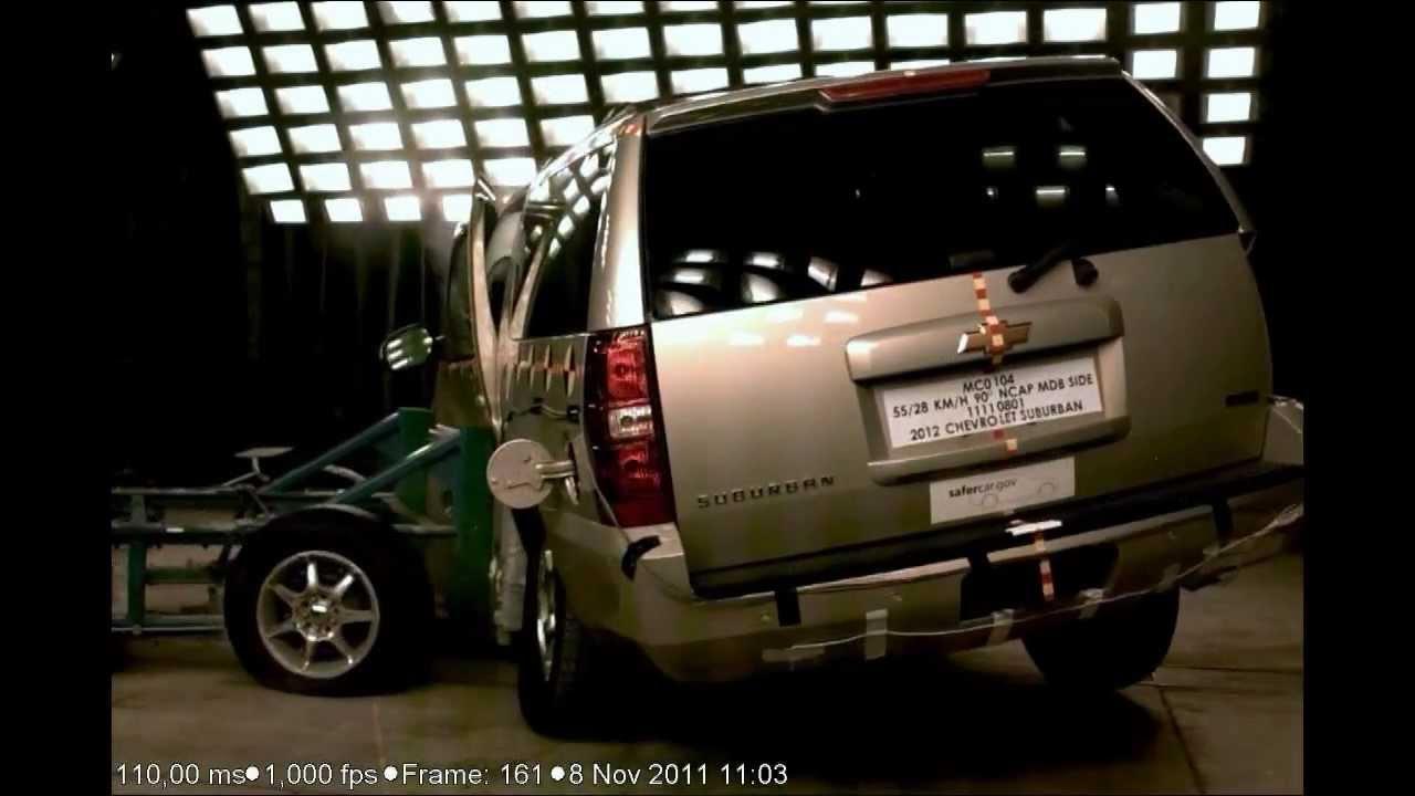 2012 chevrolet suburban gmc yukon xl cadillac escalade esv nhtsa side impact youtube