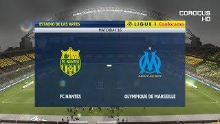 Nantes vs Olympique Marseille - 2018-19 Ligue 1 - FIFA 19