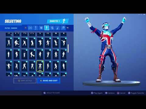 *UPDATED* Fortnite Alpine Ace GBR Skin Outfit Showcase With All Dances & Emotes