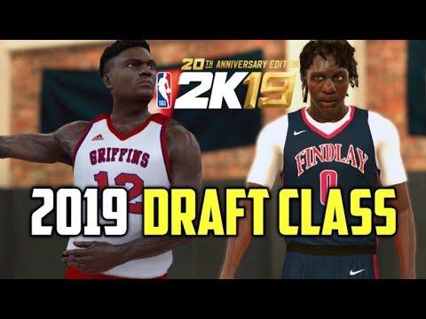 NBA 2K19 - 2019 DRAFT CLASS (2019 Draft w/ Realistic Faces)
