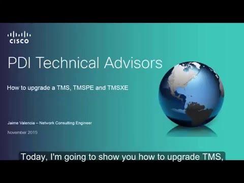 Cisco TMS, TMSPE and TMSXE Upgrade Procedure