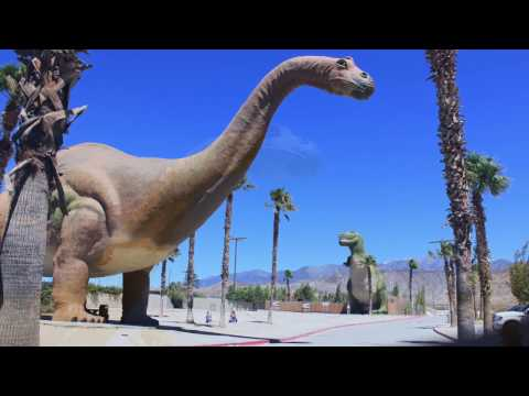 Inside the largest man made dinosaur Museum Located in Cabazon California.