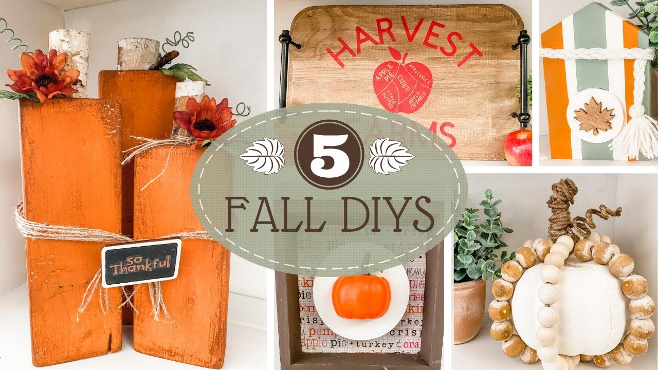 🍁 Easy FALL Home Decor DIYS 🍁 Budget Friendly DIYS!