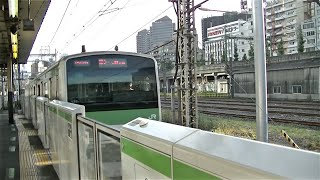 JR山手線E231系500番台トウ529編成 品川駅1番線入線