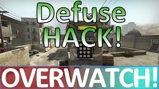 New Defuse HACK? (See it here first!) CS:GO OVERWATCH!