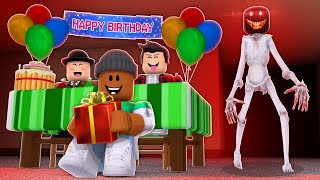 THE BIRTHDAY PARTY - A Roblox Horror Story (CAMPING PART 5)