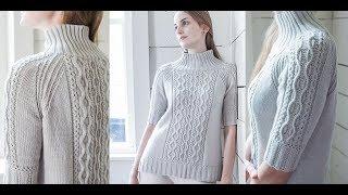 Джемпер, Вязаный от Горловины Спицами - 2018 / Knitted sweater from the Knitting Needles