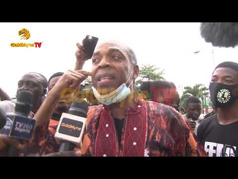 FEMI KUTI JOINS END SARS PROTEST AT ALAUSA, LAGOS, ASKS PROTESTERS NOT TO BACK DOWN