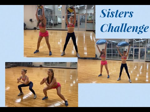 Fitness Challenge!!! Funny workout with my sis Angel)))