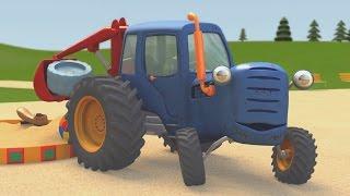 Развивающие мультики про машинки | Синий Трактор Гоша | Большой грузовик на игровой площадке