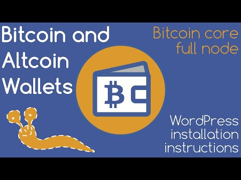 ₿ Bitcoin & Altcoin Wallets Plugin (w/ Bitcoin Core Full Node): How To Install Plugin Into WordPress