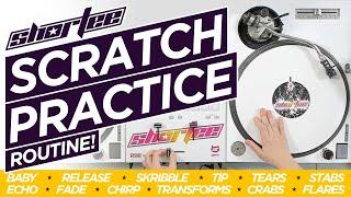 DJ SCRATCH PRACTICE ROUTINE ★ 12+ Scratch Techniques | Q&A Scratch Drill (Improve Your Scratching!)