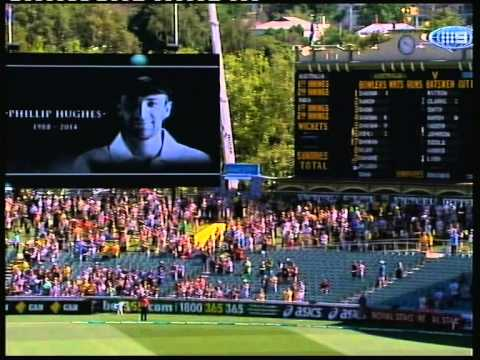 Adelaide Oval Test Match 2014 Phillip/Phil Hughes Tribute