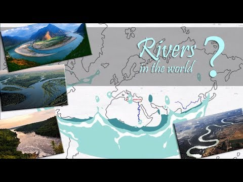 Rivers In The World ( Explained On World Map)   Longest Rivers Continent Wise   Easy To Learn