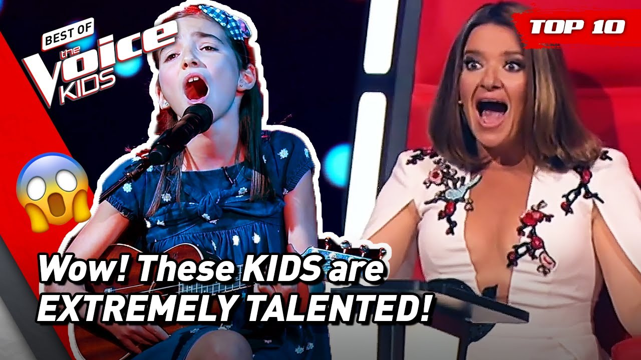 MULTITALENTED KIDS with PHENOMENAL Blind Auditions on The Voice Kids! ?  Top 10