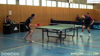 John Cordue vs. Jurgen Pesch (2011/12 Oberliga: FC Koln II vs. TTC-SG Türnich-Brüggen)