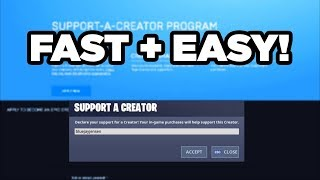 How to Get a Support A Creator Code in 1 Day! (Fortnite Battle Royale)