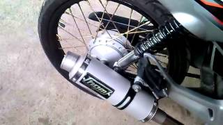 Honda XRM RS125 with HGM exhaust
