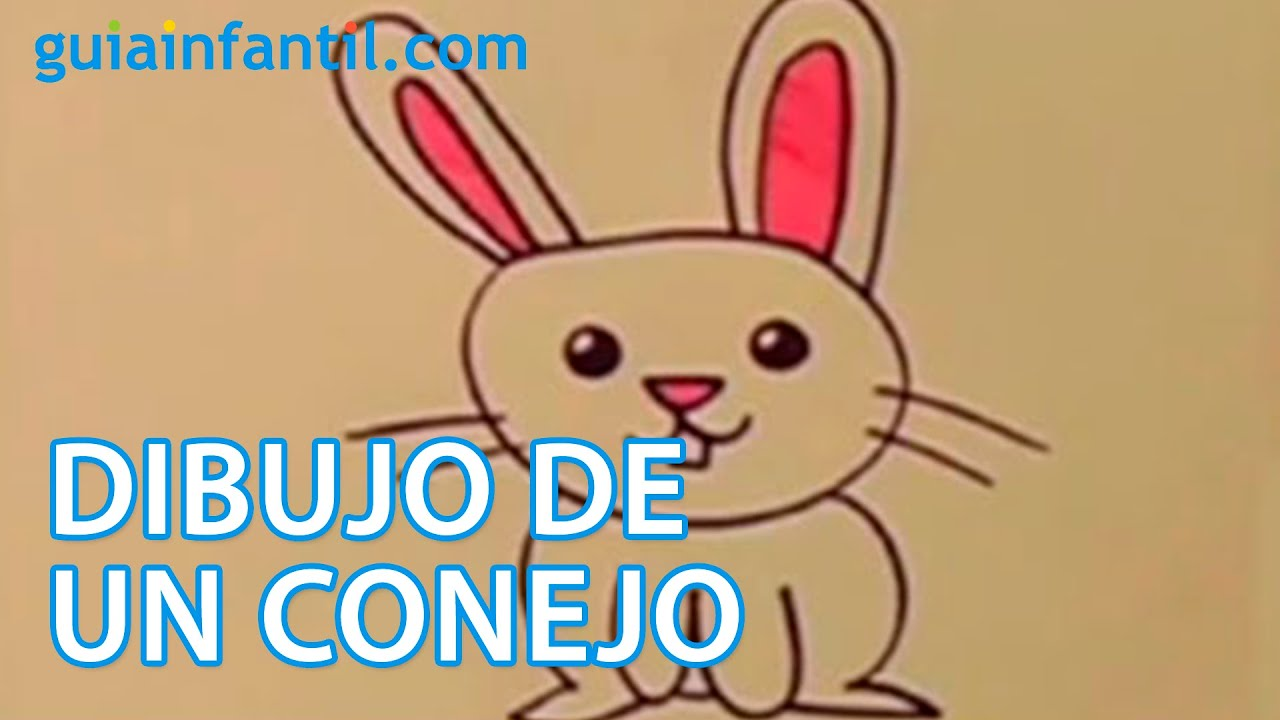 Cómo dibujar un conejo. Actividades para niños - YouTube
