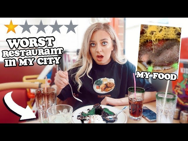 EATING at the WORST rated RESTAURANT in my CITY!