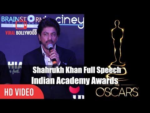 Shahrukh Khan On Oscars Awards   Indian Academy Awards 2017