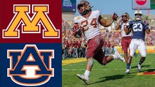 #18 Minnesota vs #12 Auburn Outback Bowl Highlights | 2020 College Football Highlights