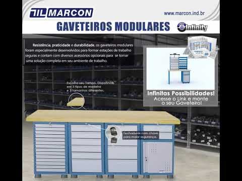 Gaveteiros Modulares Marcon - Planeje seu Ambiente!