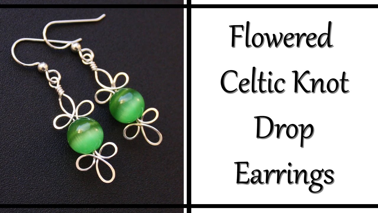 How to Make Celtic Knot Drop Earrings - Wire Wrapped Jewelry ...