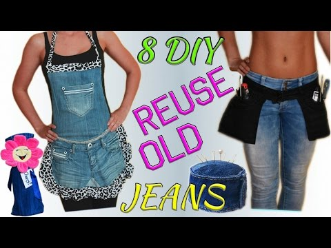 Generate 8 Creative DIY Ways HOW TO REUSE / RECYCLE OLD JEANS Pictures